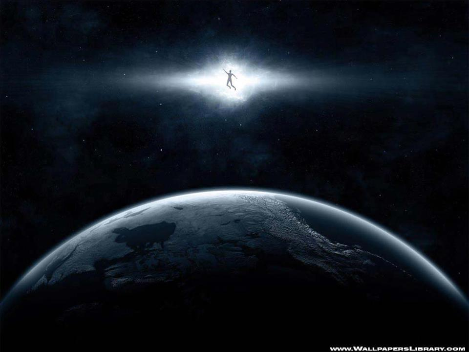 Person Hoovering Above Earth in space (Rendering)