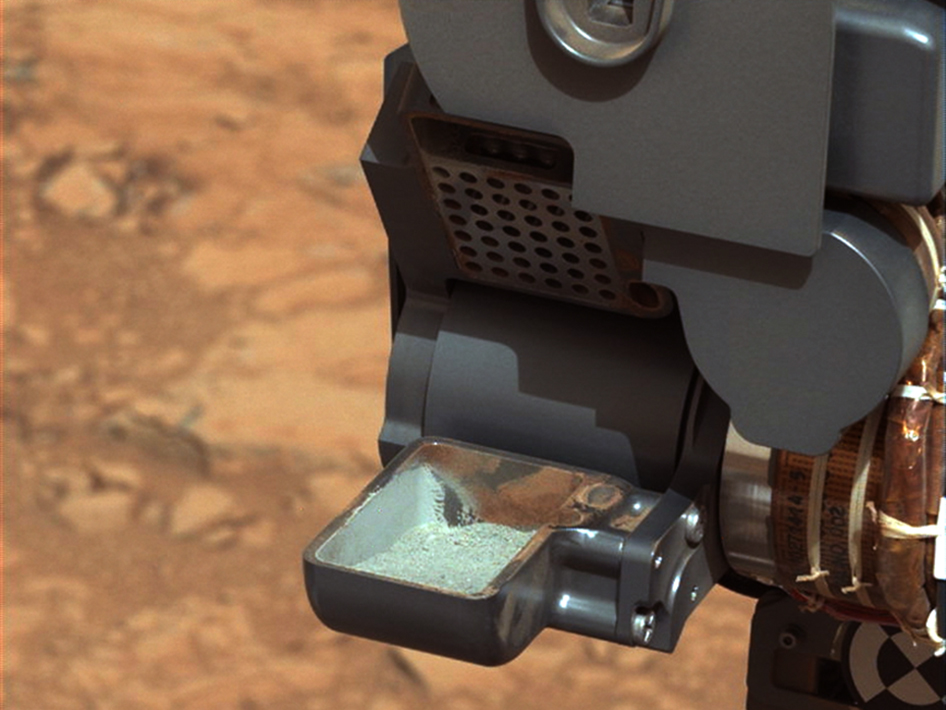 Curiosity Confirms First Drilled Mars Sample