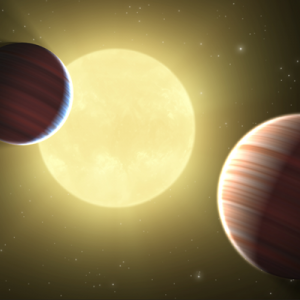 Artist's rendition of the Kepler planets
