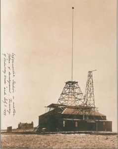 Tesla's Experimental Station at Colorado Springs where the first wireless transmission experiments were preformed
