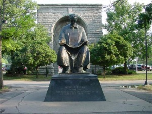 Tesla Monument at Goat Island, Niagara Falls, New York