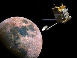 The LRO orbiting the moon. (CREDIT: Audrey Quinn)