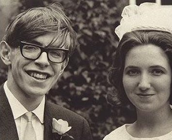 Hawking and his first wife,  Jane Wilde.