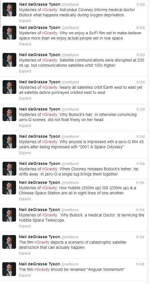 Neil deGrasse Tyson twitter gravity