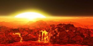 Rendering of Kepler 78b's surface (Credit: Ron Miller)