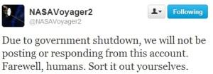 NASA voyager nasa shut down