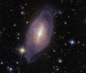 Arp 336, or the Helix Galaxy, is a different example of a polar ring galaxy. Credit: Ken Crawford, Rancho Del Sol Observatory