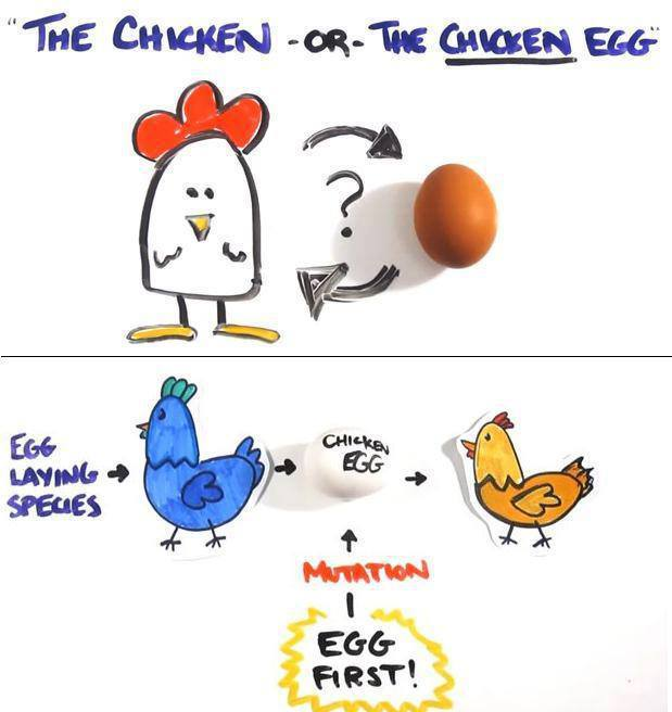 which came first the chicken or the egg futurism