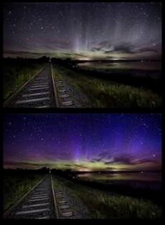 How We See The Aurora Borealis Camera Vs Human Eyes