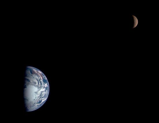 The Earth-Moon system via NASA