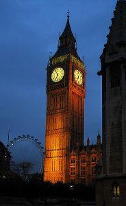 Big Ben in London, England. Andrew Dunn, 29 September 2004 - Via: http://www.andrewdunnphoto.com