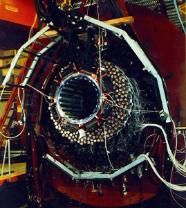 a house-sized detector at the Brookhaven National Laboratory that documented a rare mode of decay of particles called kaons, constituents of matter.