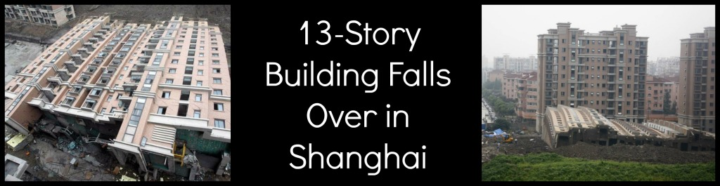 building falls over perfect shape