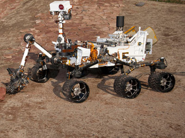 A full scale test model of the famous Curiosity rover. Image Credit: NASA