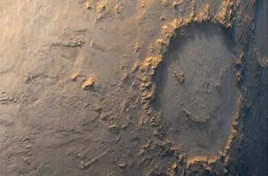 A happy face on Mars via NASA