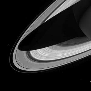 How a shadow might look (Credit: Cassini Imaging Team, SSI, JPL, ESA, NASA)