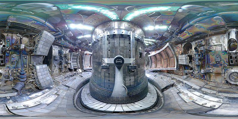 Interior view from Alcator C-Mod Reactor using a fish eye lens.  Photo Courtesy of Wikimedia Commons User Bob Mumgaard.