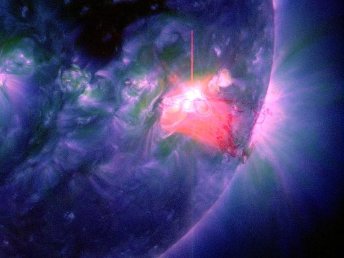 The last solar  of 2013 via NASA