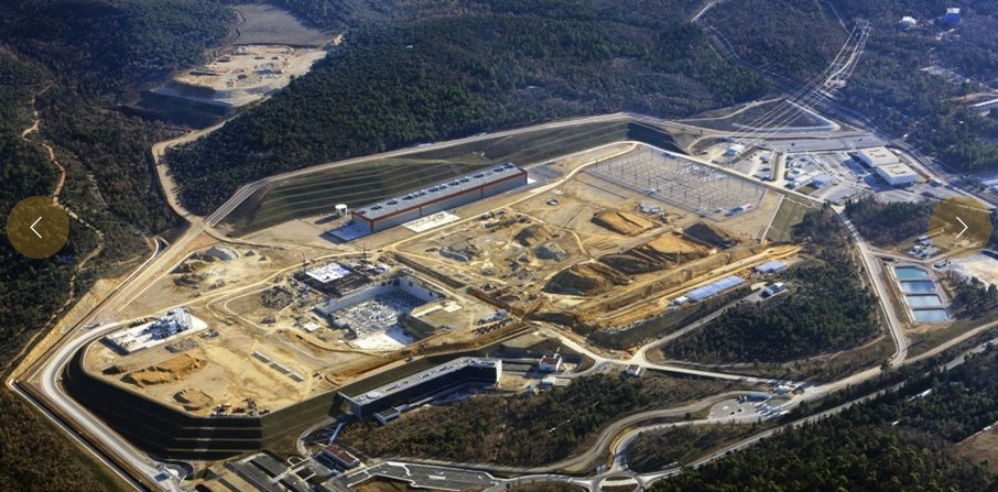 February 2013 aerial view of the ITER construction site.  Photo Courtesy of ITER Public Gallery, this photo has been edited to reduce size.