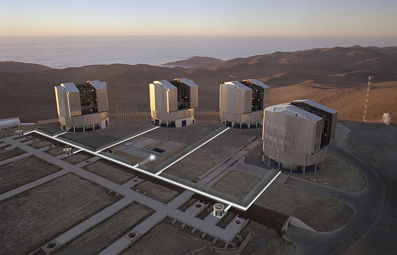 The four telescopes making up the VLT. Image Credit: ESO