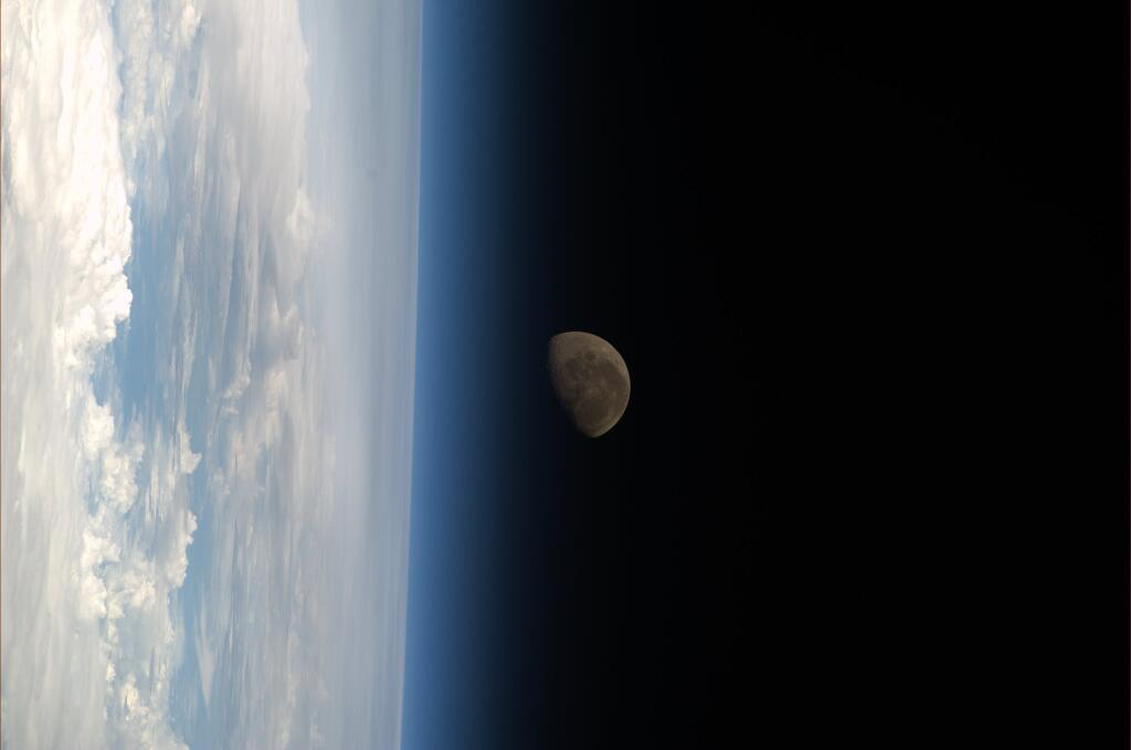 moon earth from space