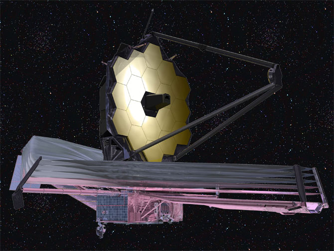 September 2009 artist conception of the James Webb Space Telescope. Credit: NASA