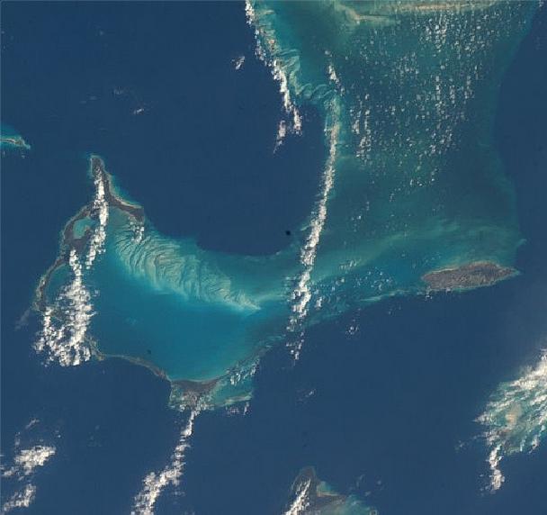 Eleuthera island, Bahamas via NASA Instagram