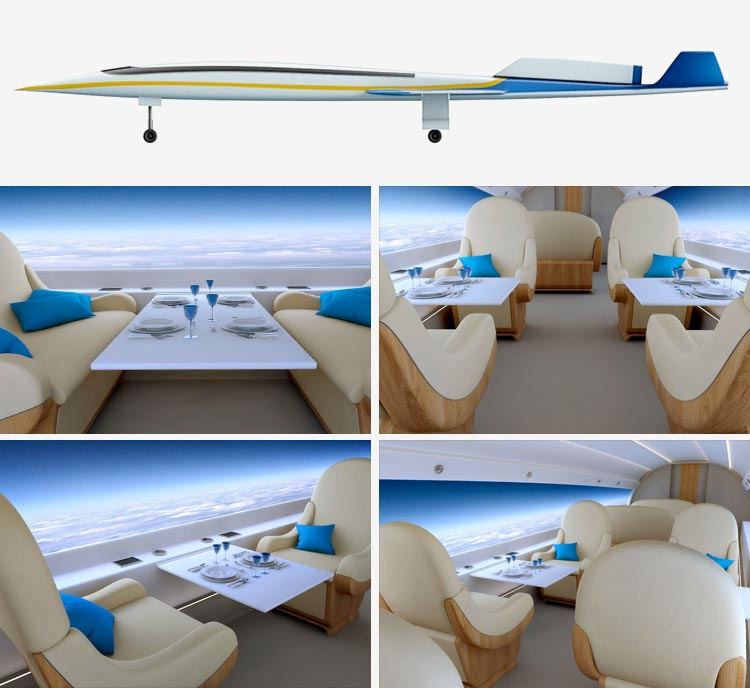 Inside view of the jet via Spike Aerospace