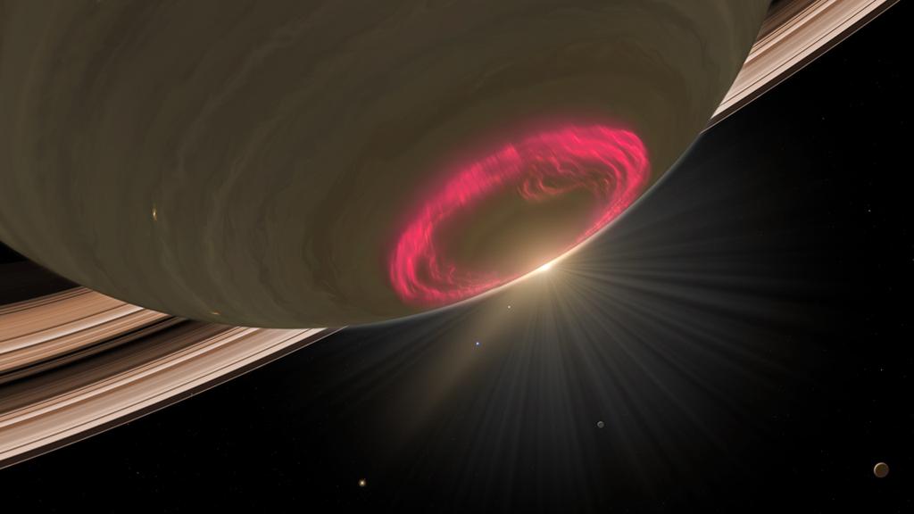 A view of Saturn's aurora (Credit: NASA/JPL/University of Arizona/University of Leicester)