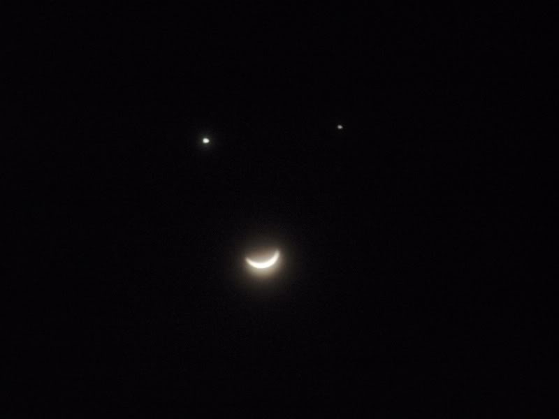 Smiley Face Moon: The Conjunction of Venus, Jupiter, and Luna
