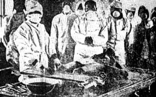 A rare image inside Unit 731 (Author unknown)