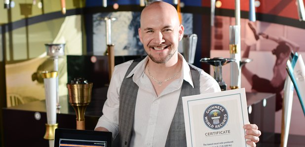 Tim Storm with Guinness Record. Image source
