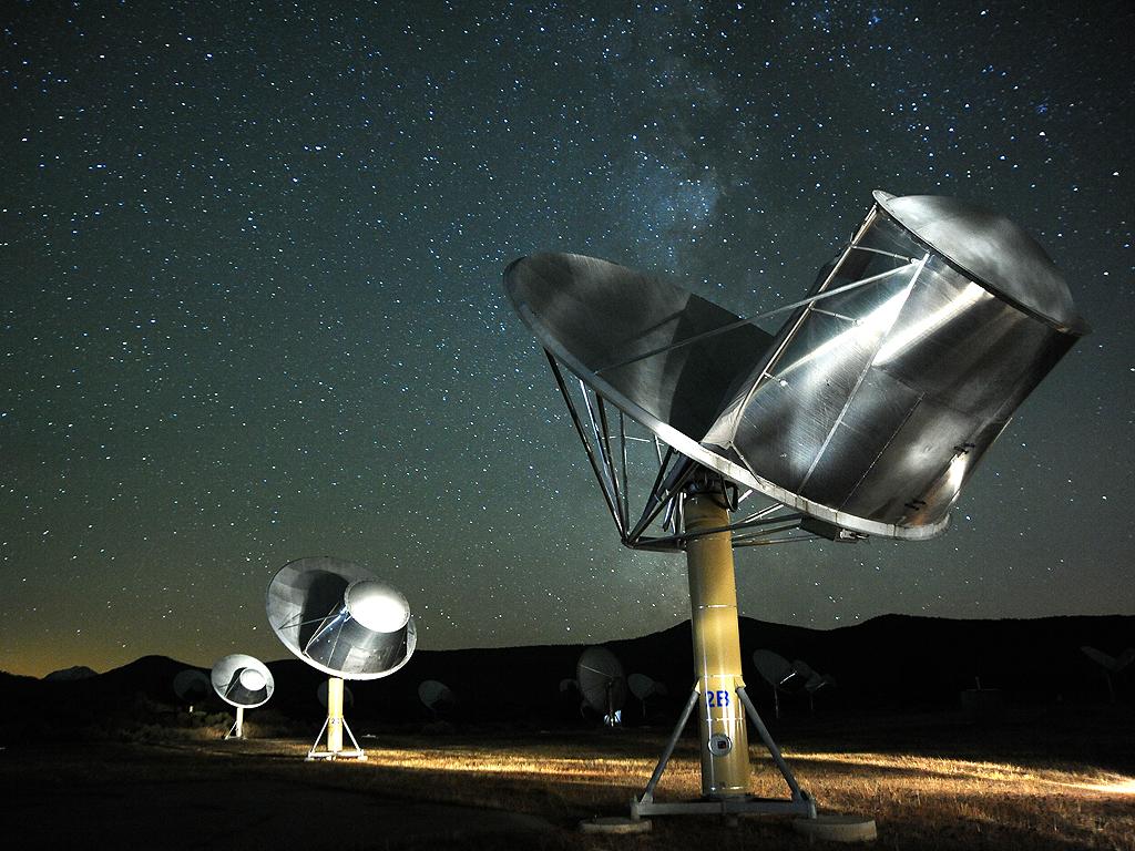 The Allen Telescope Array. Image by SETI astronomer Seth Shostak
