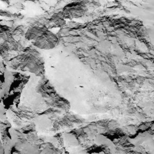 View of landing site A, as seen by Rosetta's OSIRIS camera. Image Credit: ESA