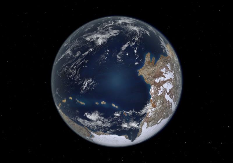 Earth 600 million years ago (Image Credit: Walter Myers (arcadiastreet.com)