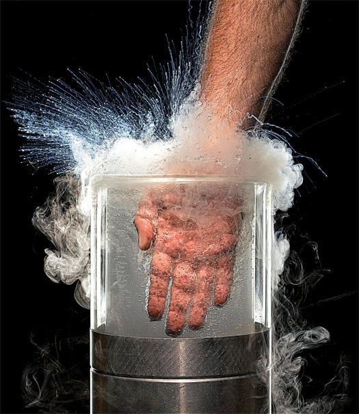 outlet store 5fac9 383d7 WATCH  Man Puts His Hand into Liquid Nitrogen