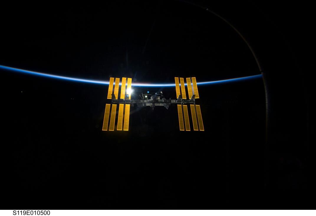 The ISS & Earth  (Credit: NASA)