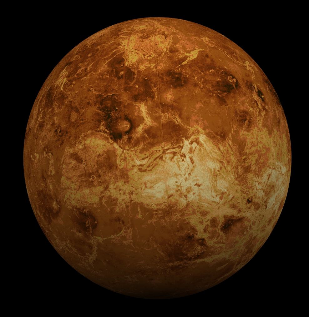 Global view of the surface of Venus via NASA