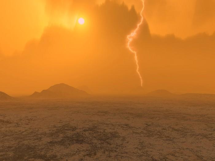 Artist's rendition of Venus' surface via NASA