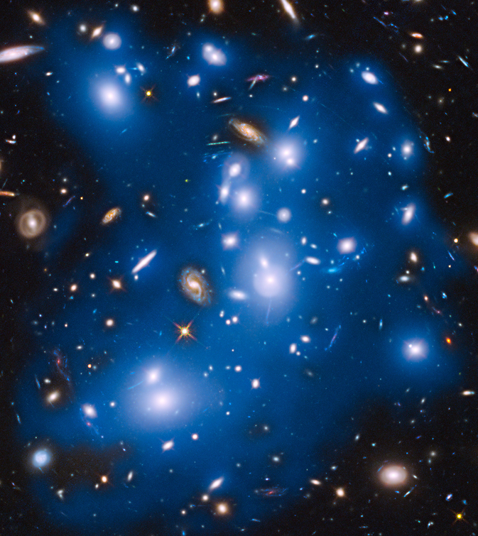 Abell 2744, also known as Pandora's Cluster, takes on a haunting look with artificially starlight Image Credit: NASA/ESA/IAC/HFF Team, STScI