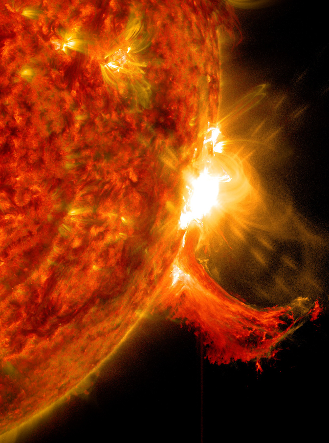 astronomy photo of the day apotd 10 08 14 m class solar flare