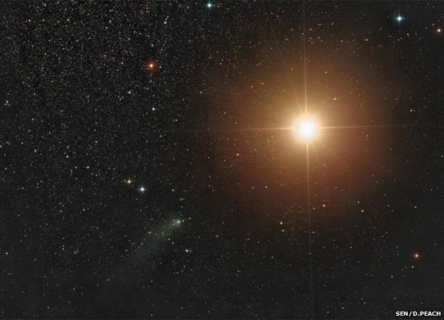 Siding Spring pictured on its journey toward Mars (Image Credit: Damian Peach)