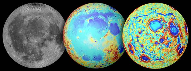 Moon, GRAIL Map