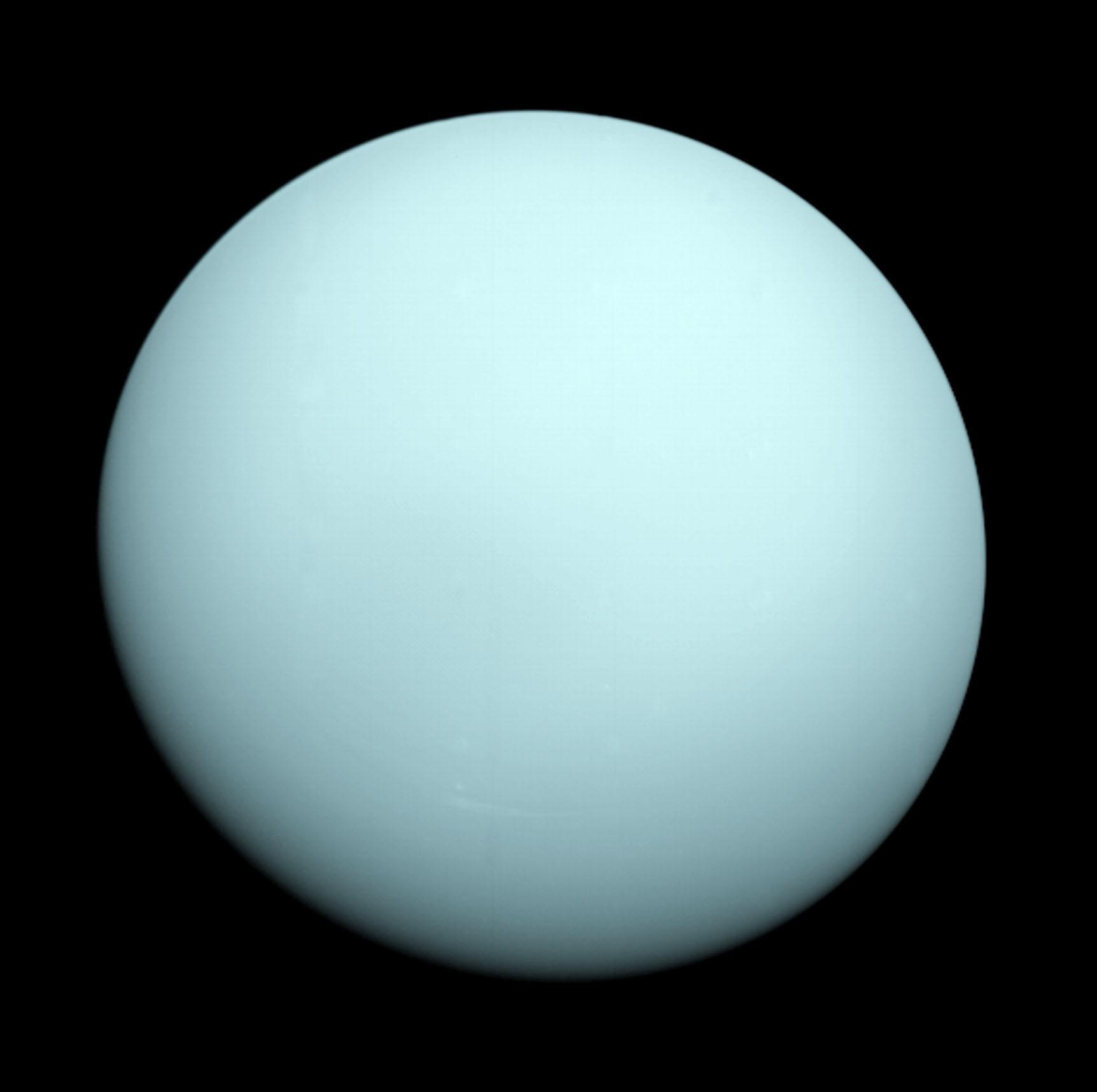 Uranus, as seen by Voyager (Image Credit: NASA/JPL)