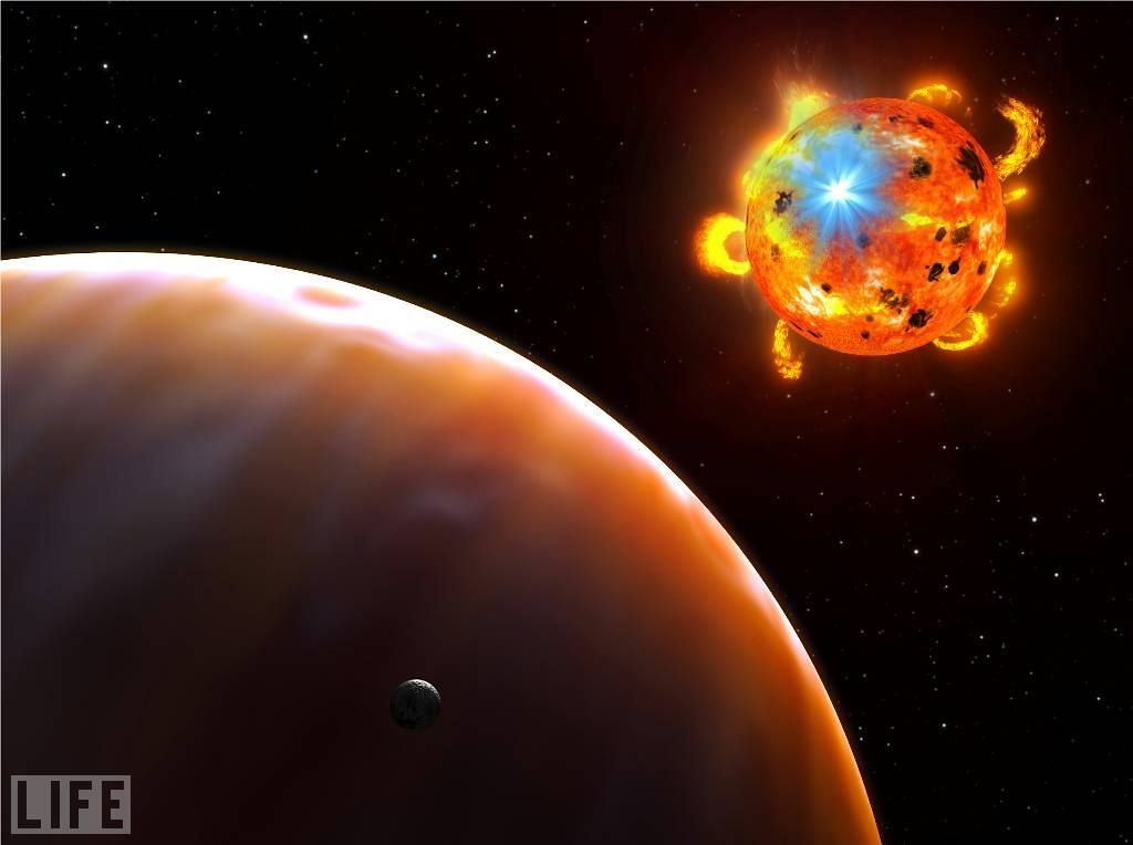 Artist rendering of a planet in orbit around a red dwarf (Image Credit: Greg Bacon, STScI, ESA, NASA)