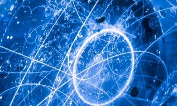 Subatomic Neutrino Tracks: Image credit: CERN