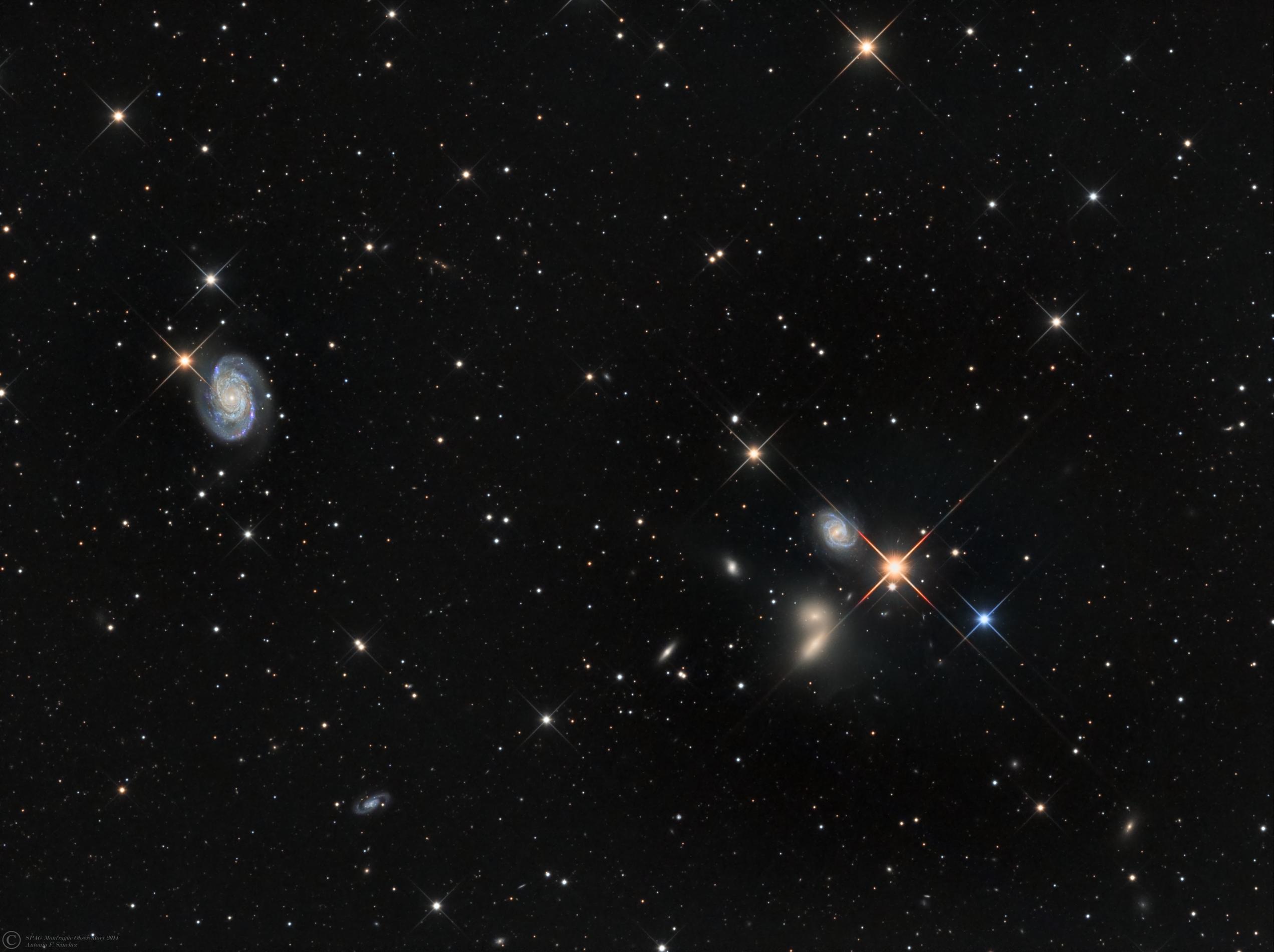 The Big Lick Galaxy Group (Credit: Antonio F. Sanchez (Spag-Monfrague Remote Observatory)