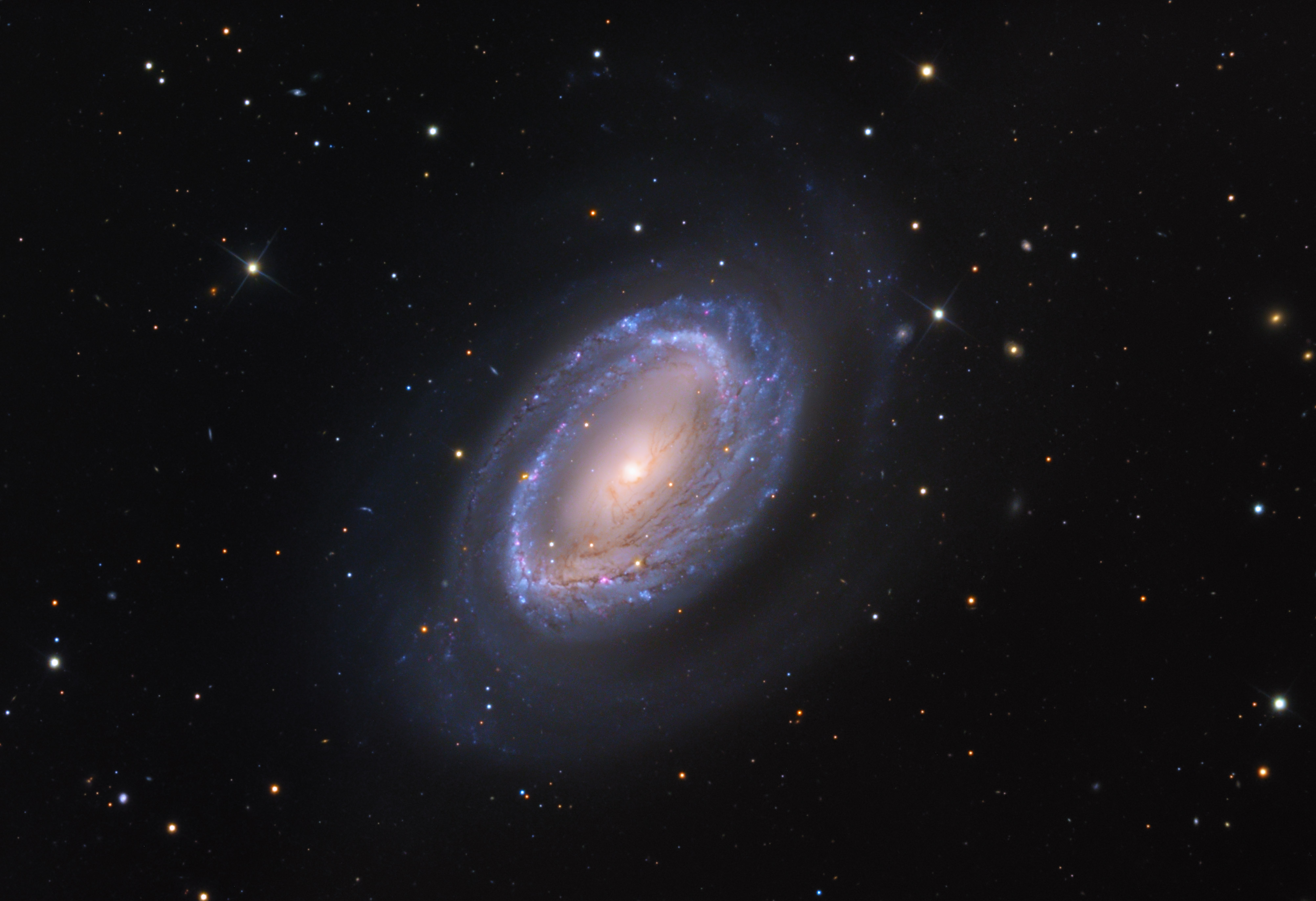 NGC 3256 Hubble imagery   Astro-photo