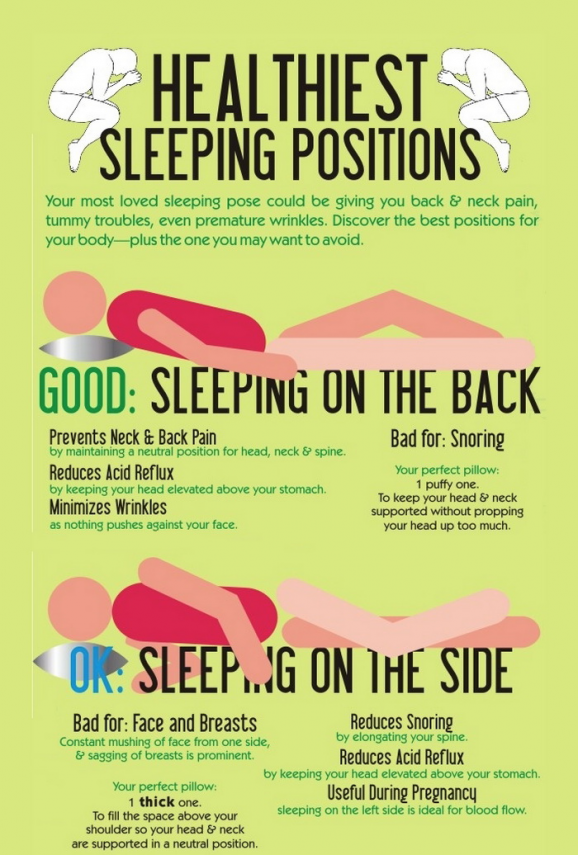 What S The Healthiest Way To Sleep Infograph