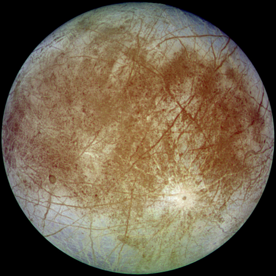 Europa, as seen from Galileo - (NASA photo)